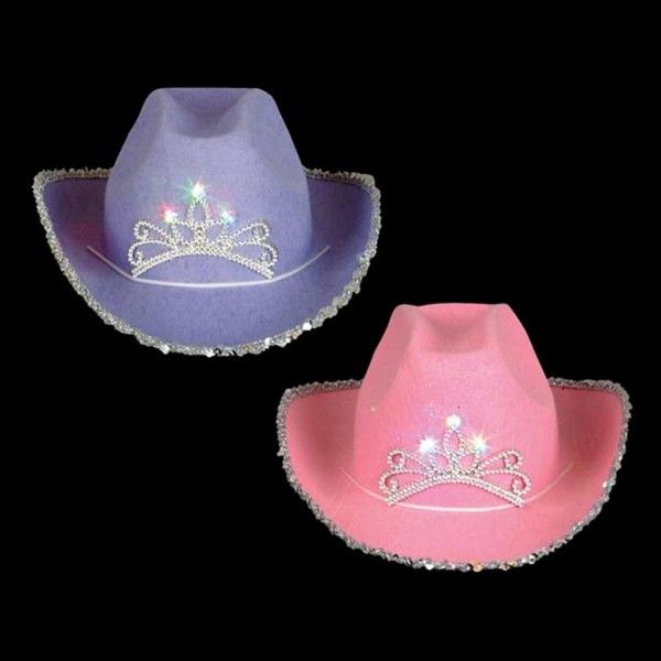 bb2a33df05a9e AR82628 Adult Blinking Tiara Cowboy Hat
