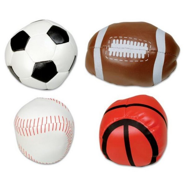 Tr54106 4 Soft Stuffed Sports Ball Assortment