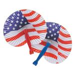 ZR21600 Stars And Stripes Folding Fan
