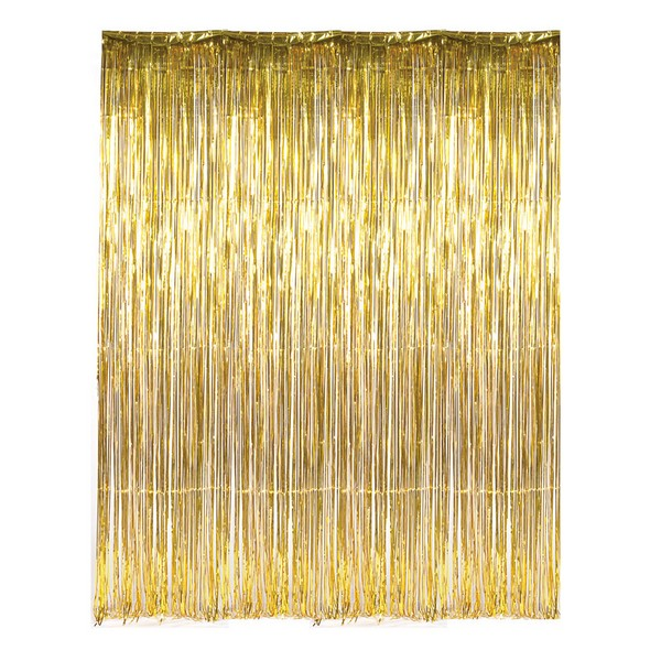 DR69268 Gold Foil Fringe Curtain