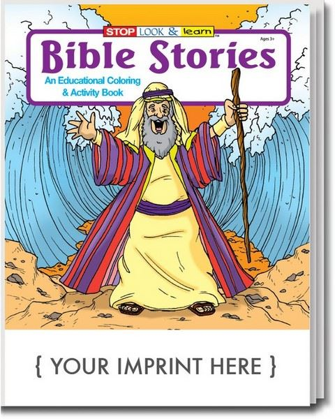 CS0490 Bible Stories Coloring And Activity Book With Custom Imprint