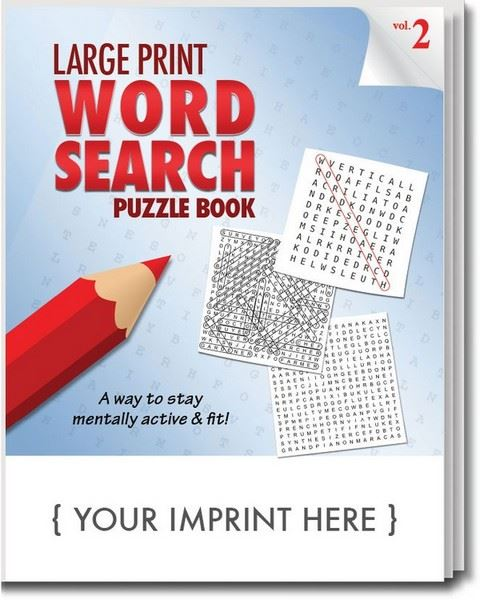 SCS1931 Large Print Word Search Puzzle Book With Custom Imprint