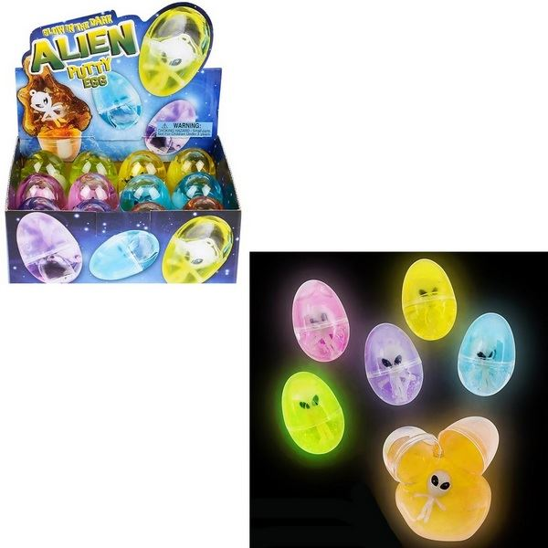 TR28497 Glow in the Dark Alien Putty Egg