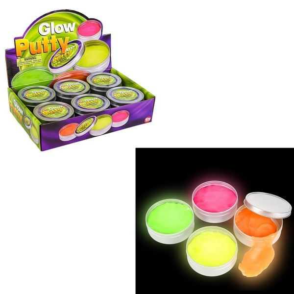 TR78687 Glow In The Dark Putty In Tin Box